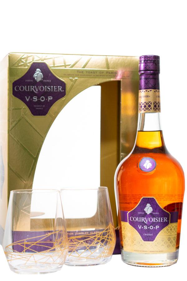 Courvoisier VSOP Cognac Gift Set with 2 Glasses 70cl