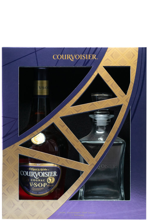 Courvoisier VSOP Cognac Gift Set with Decanter 75cl
