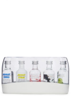 Absolut Fives Vodka Gift Set 5 x 5cl