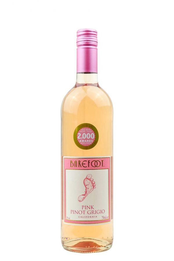 Barefoot Pink Pinot Grigio Wine 75cl