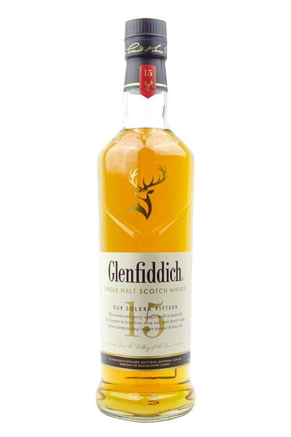 Glenfiddich 15 Year Old Whisky Bottle