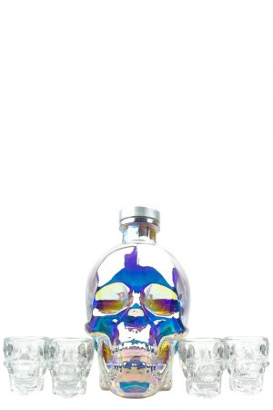 Crystal Head Aurora Vodka Gift Set with 4 Glasses 70cl