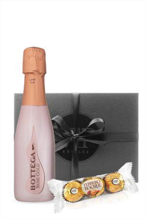 Bottega Rose Gold Prosecco with Ferrero Rocher Gift Box 20cl