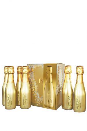 Bottega Gold Prosecco Gift Set 6 x 20cl