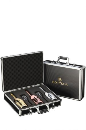 Bottega Prosecco Gift Set with Suitcase and 2 Glasses 3 x 75cl