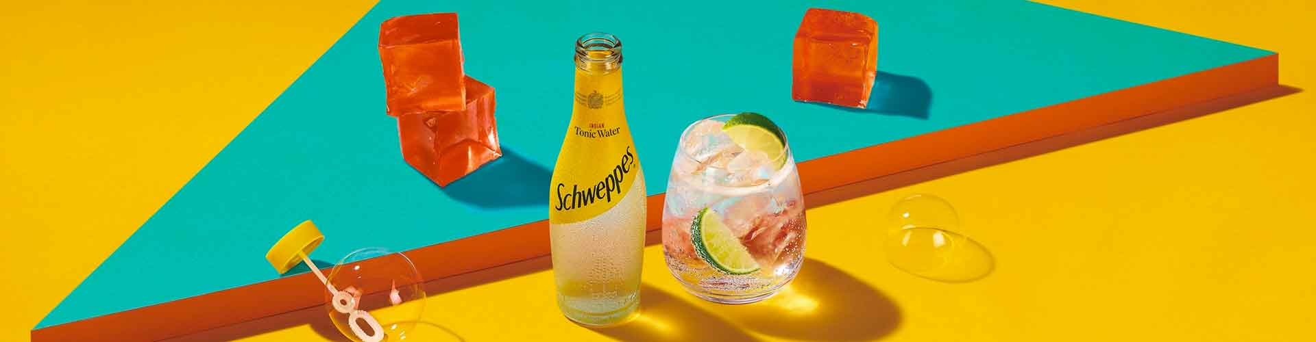 Schweppes gin and tonic