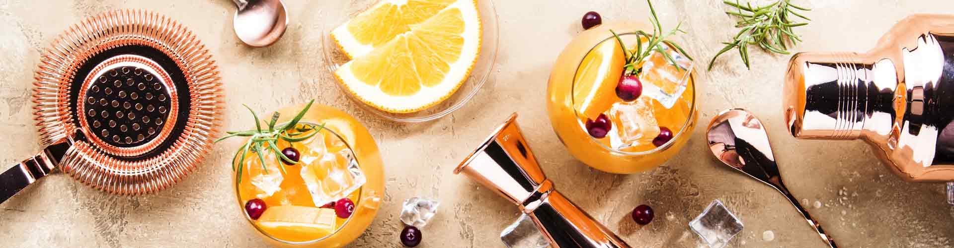 Fruit punch cocktails