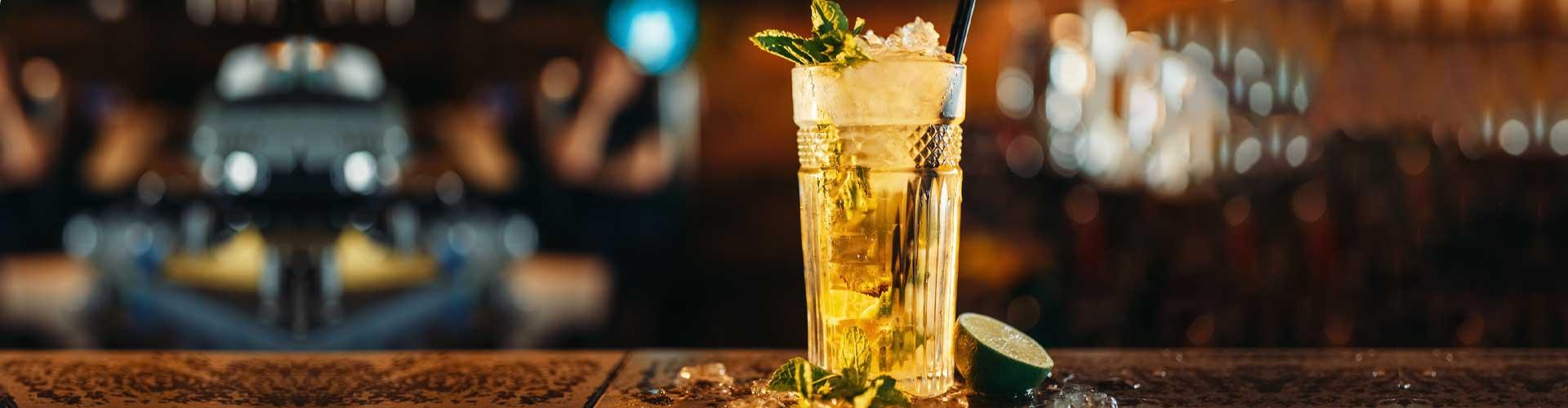 Dark Rum Mojito Cocktail
